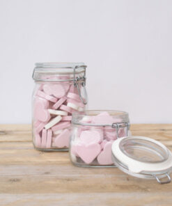 Geboortecadeau Hartjes (Roze)