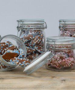 Geboortecadeau Chocolade Spekjes (Roze)